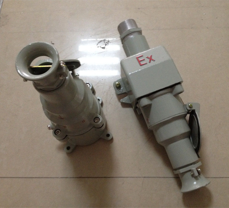 Aluminum Alloy Explosion Proof Power Socket For Gas Zones 1 And 2 / Dust Zones 21 And 22
